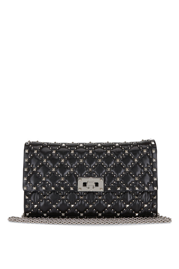 Valentino Garavani Rockstud Spike It Black Quilted Leather Bag