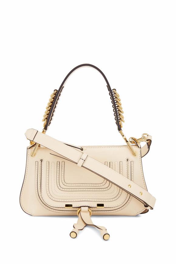 Chloé Marcie Blondie Beige Ring Detail Shoulder Bag