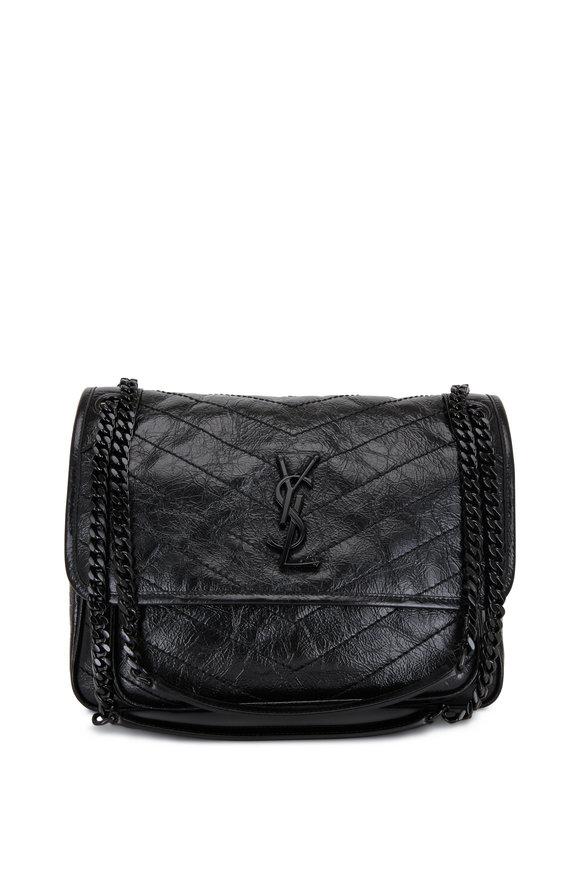 Saint Laurent Niki Monogram Black Leather Medium bag