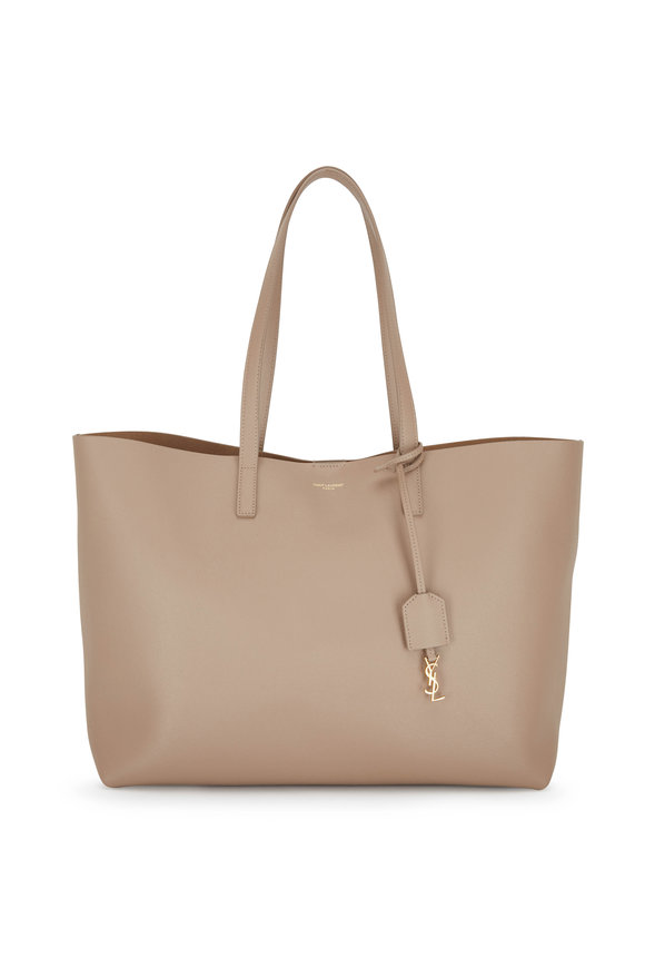 Saint Laurent Beige Leather Large Shopper Tote