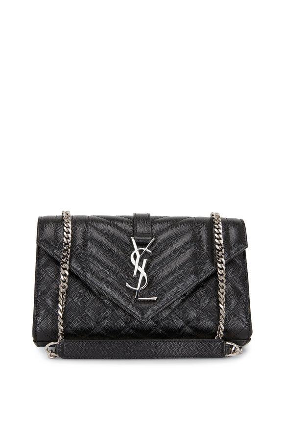 Saint Laurent Monogram Matelassé Black Small Chain Bag