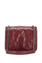 Saint Laurent - Niki Monogram Wine Quilted Leather Small Bag