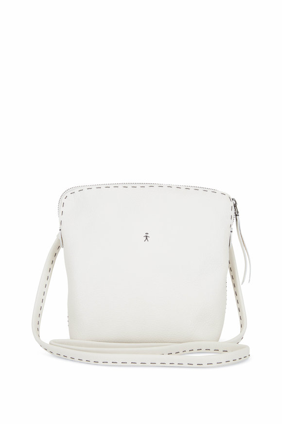 Henry Beguelin Imbuto White Leather Small Crossbody Bag