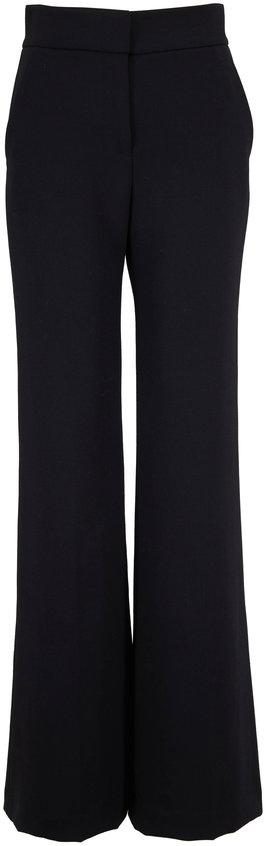 Veronica Beard Lebone Black Wide Leg Pant