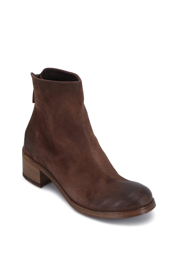 Marsell Listo Chocolate Suede Ankle Boot, 50mm