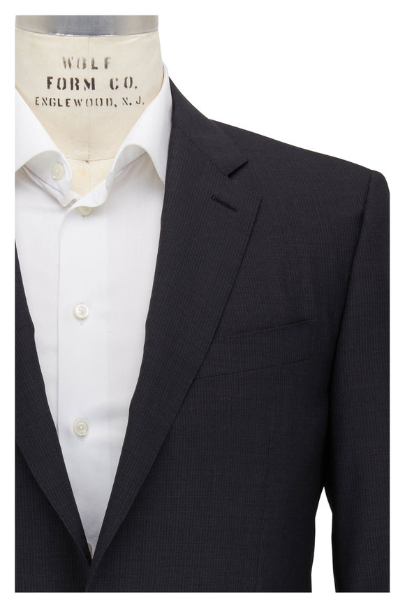 Canali Gray Micro Neat Wool Suit