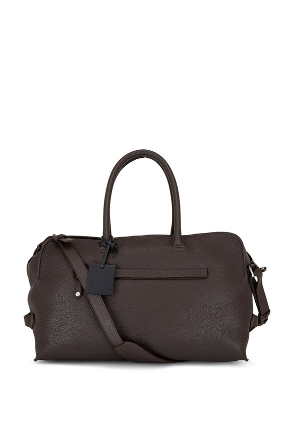 Grey New York Grey New England Coffee Pebbled Leather Duffle 45