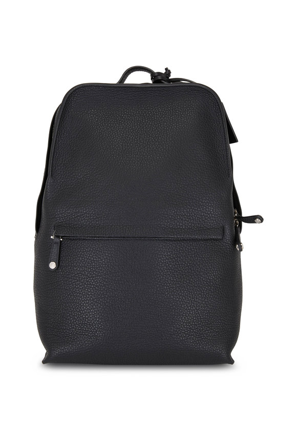 Grey New York Grey New England Black New England Pebbled Leather Backpack