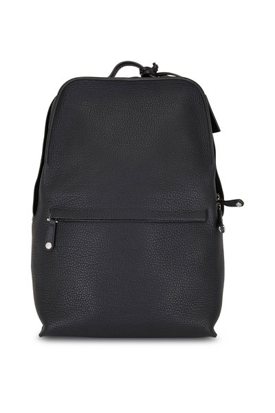 Grey New York Grey New England - Black New England Pebbled Leather Backpack