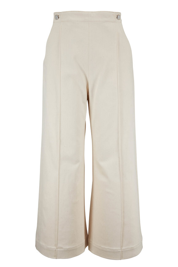 Rosetta Getty Natural Denim Wide Leg Pant