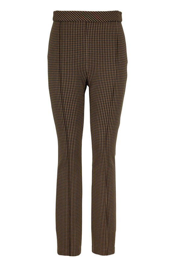 Rosetta Getty Brown & Black Houndstooth Interlock Legging