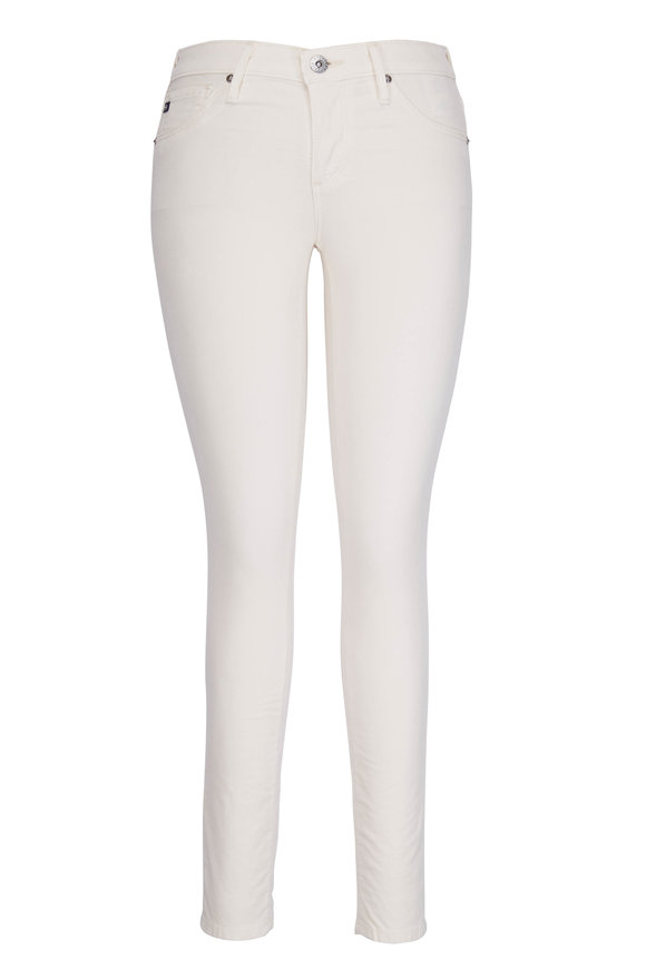 AG - Adriano Goldschmied Ivory Corduroy Legging Ankle Jean