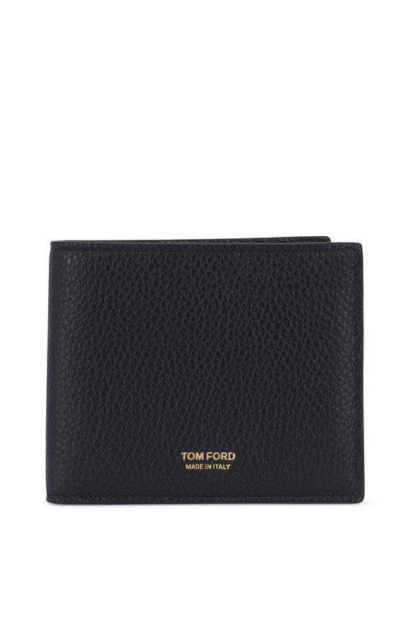 Tom Ford Black Leather Bi-Fold Wallet