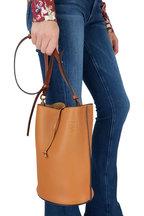 Loewe - Gate Light Caramel & Pecan Leather Bucket Bag