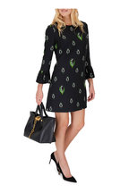 Valentino - Crepe Couture Black Lily Of The Valley Dress