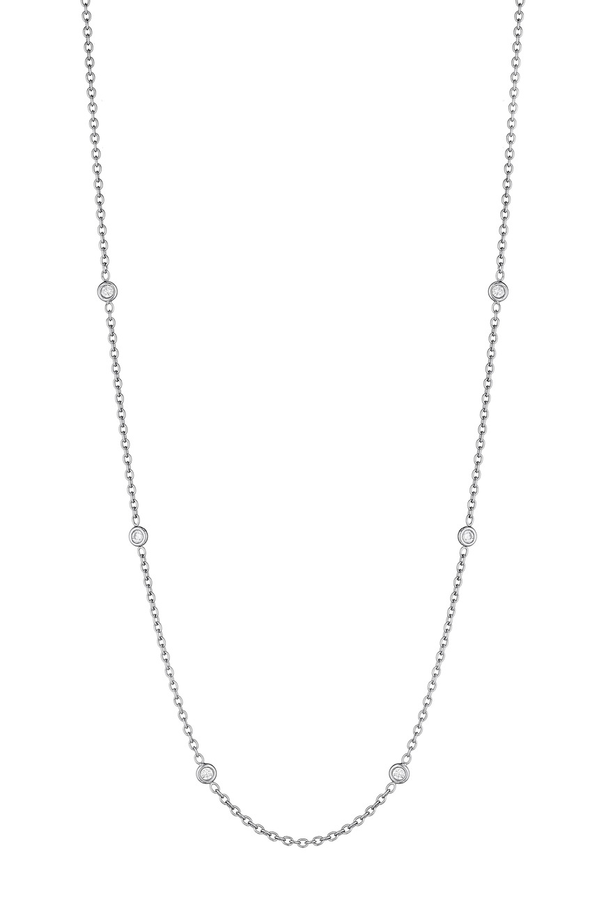 White Gold Spectacle Set Diamond Chain