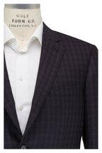 Brioni - Navy Blue & Graphite Plaid Wool Sportcoat