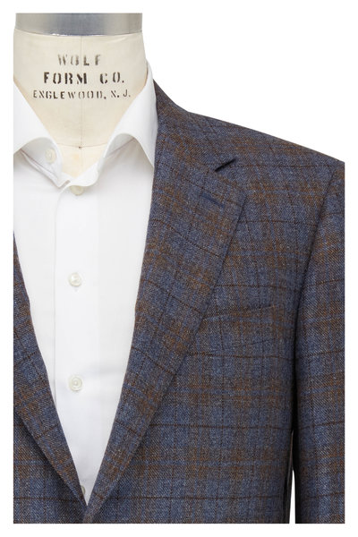 Canali - Taupe & Brown Windowpane Sportcoat