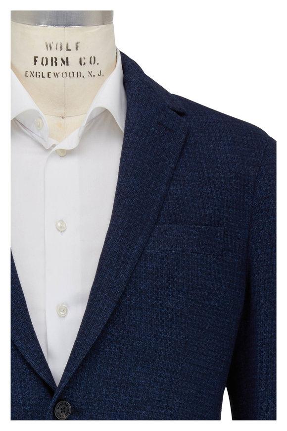 Maurizio Baldassari Navy Cotton & Wool Textured Sportcoat