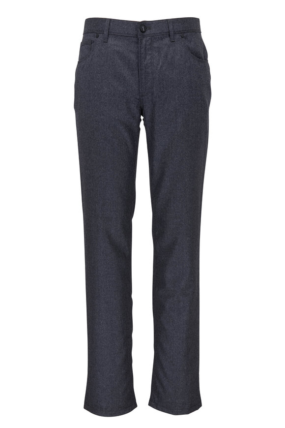 Hiltl Kent Charcoal Gray Flannel Five Pocket Pant