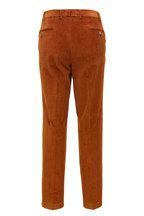 Hiltl - Rust Corduroy Flat Front Pant