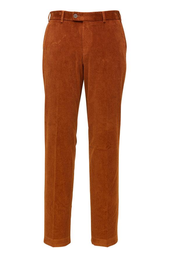 Hiltl Rust Corduroy Flat Front Pant
