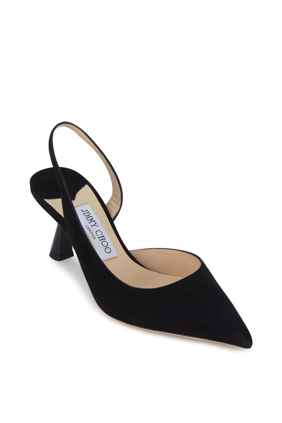 Jimmy Choo Fetto Black Suede Slingback, 65mm