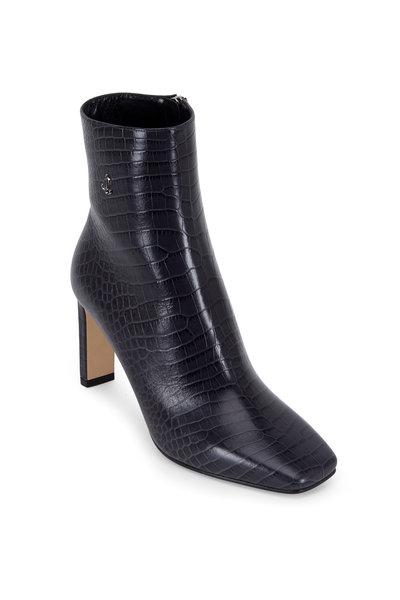 Jimmy Choo - Minori Dusk Croc Embossed Leather Ankle Boot, 85mm