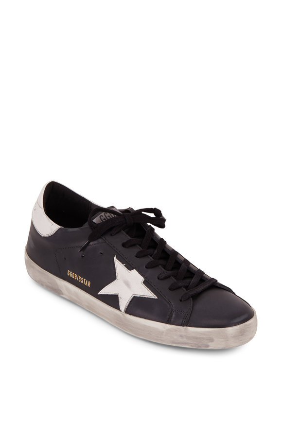 Golden Goose Men's Superstar Black Leather Sneaker