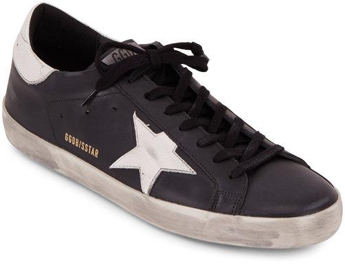 Golden Goose Men's Superstar Black Leather Sneaker