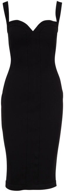 Victoria Beckham Black Bonded Crepe Sleeveless Cami Dress