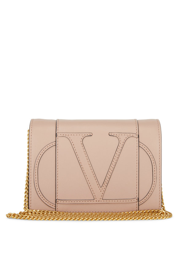 Valentino Garavani VLOGO Rose Leather Mini Crossbody Bag