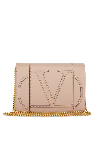 Valentino Garavani - VLOGO Rose Leather Mini Crossbody Bag