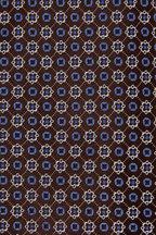 Ermenegildo Zegna - Blue & Black Geometric Flower Silk Necktie