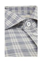 Maurizio Baldassari - Gray Plaid Sport Shirt