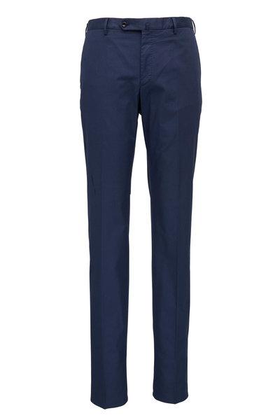 Incotex - Micky Navy Blue Cotton Stretch Modern Fit Pant