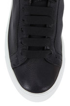 To Boot New York Women - Emma Black Cervo Leather Lace-Up Sneaker