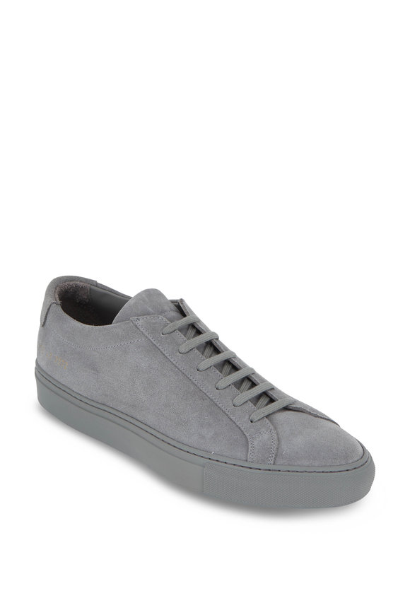 Common Projects Achilles Gray Suede Low-Top Sneaker