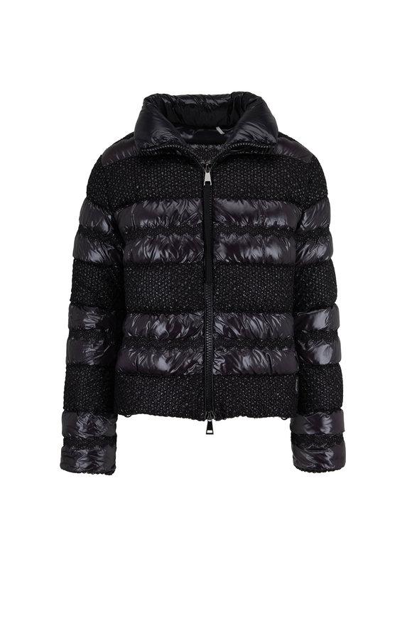 Moncler Dordogne Black Textured Puffer Coat