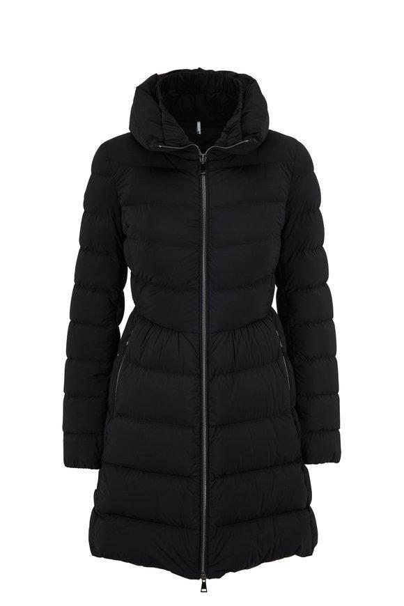 Moncler Nevalon Black Semi-Fit Puffer Coat