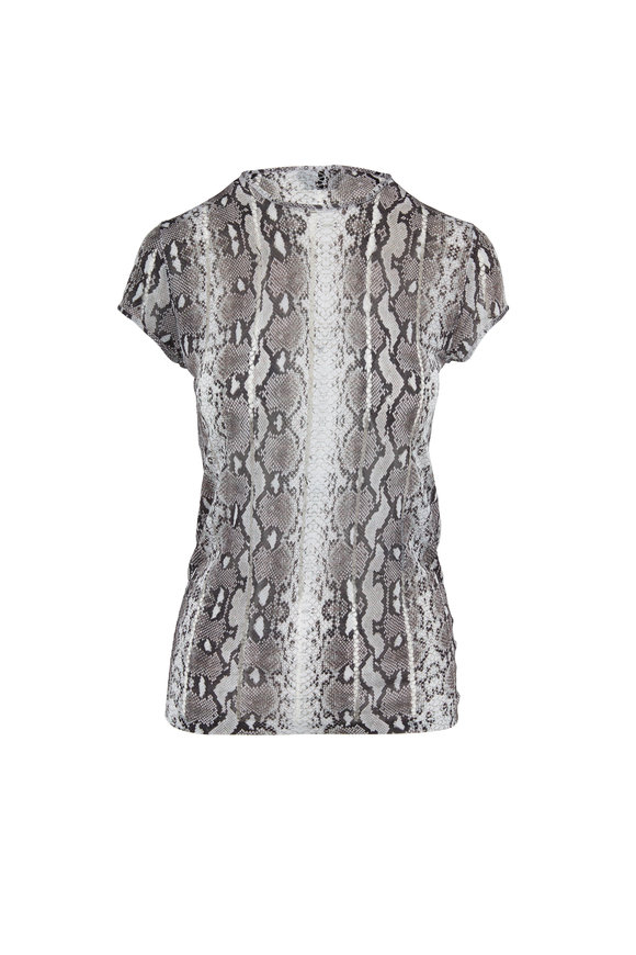 Tom Ford Rock Snake Print Knit T-Shirt