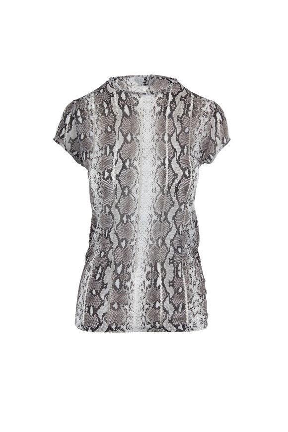 Tom Ford Rock Snake Print Knit T-Shirt