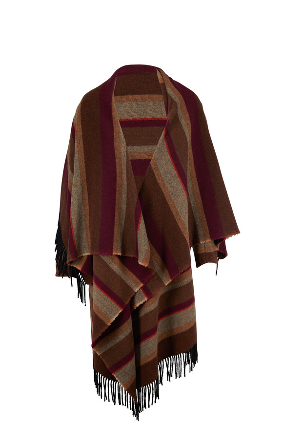 Dorothee Schumacher Cosy Fringes Multicolor Striped Shawl