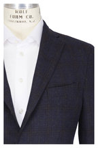 Boglioli - Navy Blue Wool & Cashmere Tartan Sportcoat