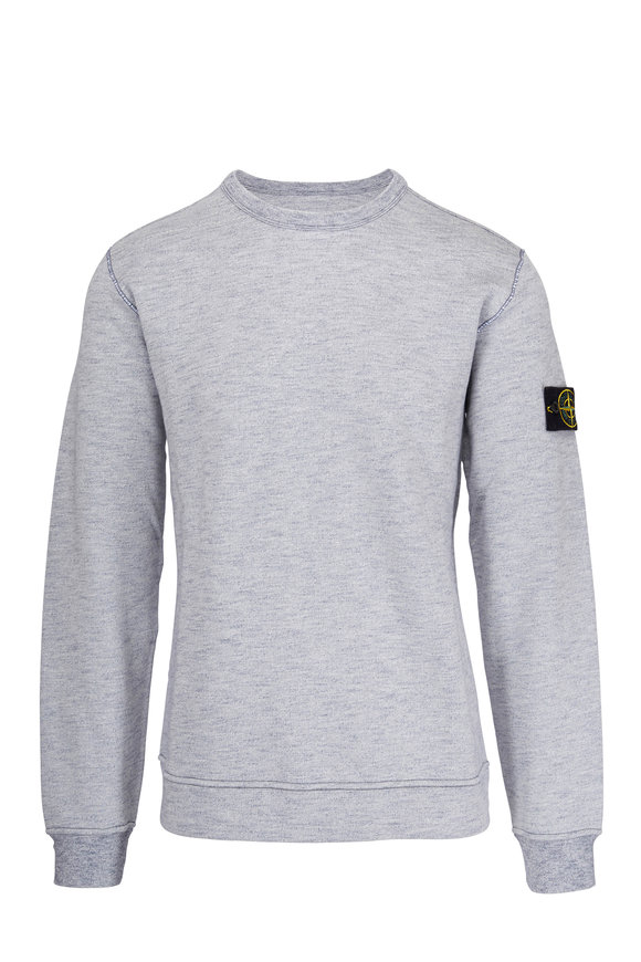 Stone Island Heather Blue Crewneck Sweatshirt