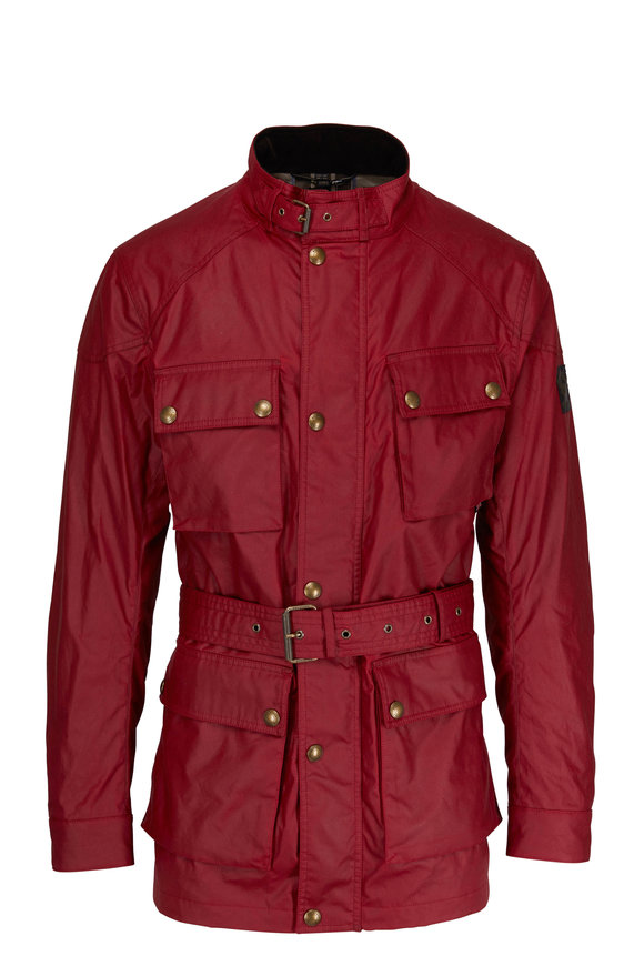 Belstaff Trailmaster Racing Red Waxed Cotton Jacket