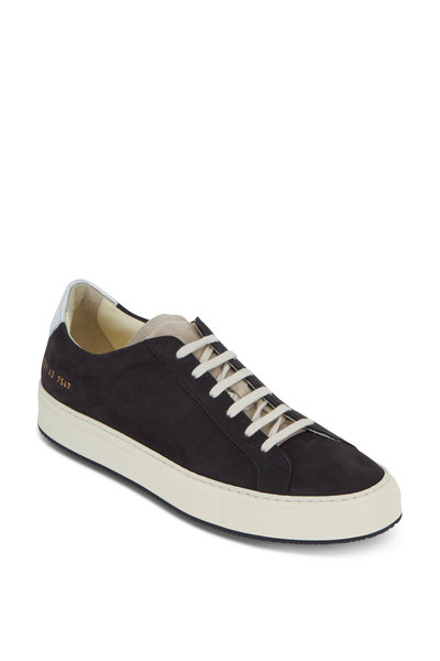 Common Projects - Retro Low Special Edition Black Suede Sneaker