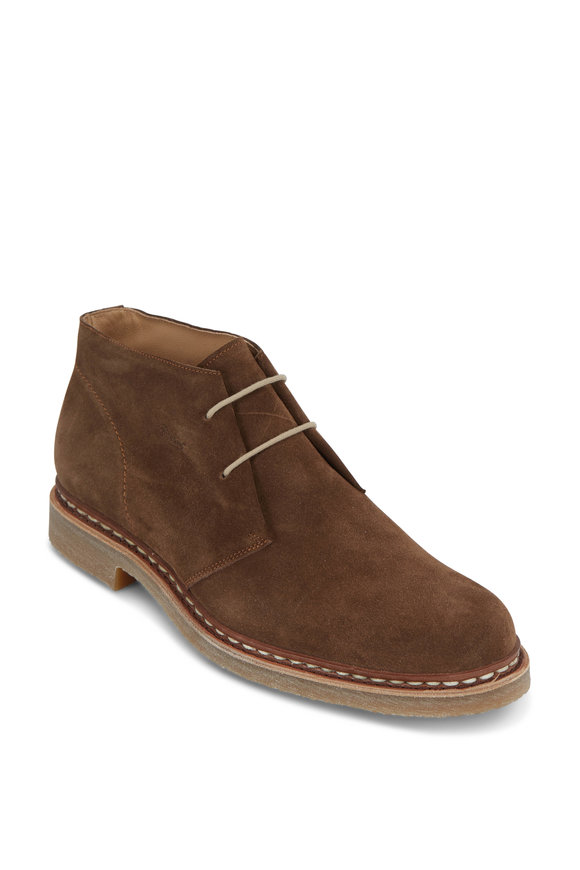Paraboot Desert Ario Brown Suede Lace-Up Boot
