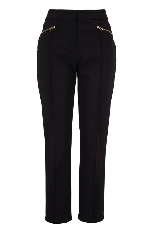 Escada Tuskana Black Zip Pocket Pant