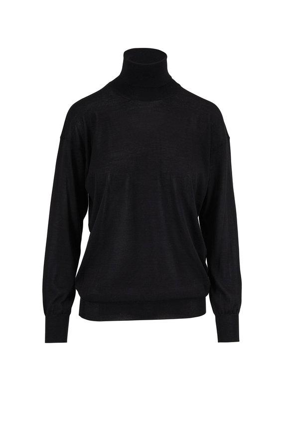 Tom Ford Black Fine Cashmere & Silk Turtleneck